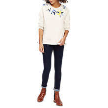 Buy Joules Hayfield Embroidered Sweatshirt, Cream Rose Embroidery Online at johnlewis.com