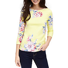 Buy Joules Harbour 3/4 Sleeve Printed Jersey Top, Lemon Online at johnlewis.com