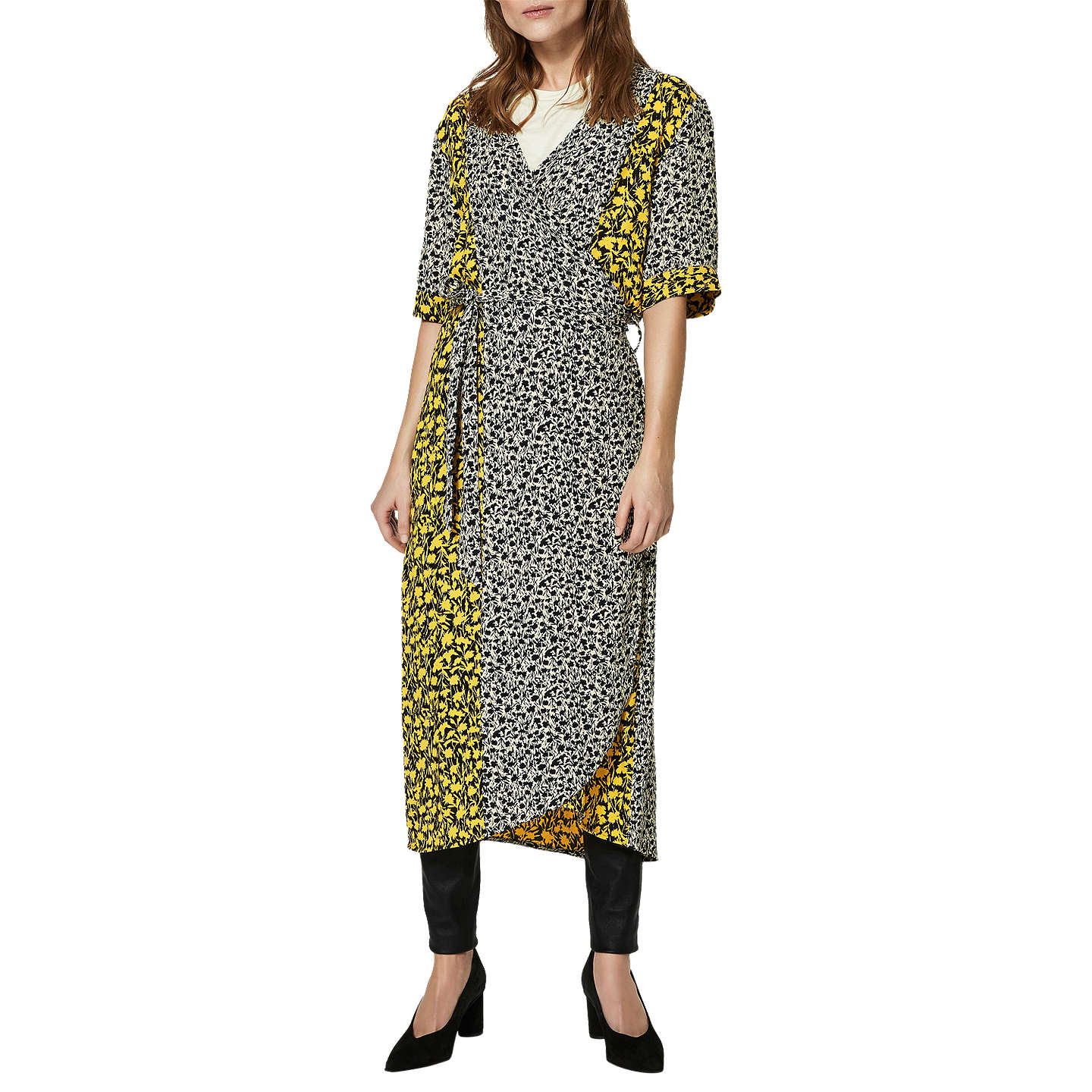 Free Shipping Eastbay Sale Affordable Femme Printed Wrap Dress - Multi Selected Recommend Cheap Online Pay With Paypal Cheap Hot Sale WAhJO