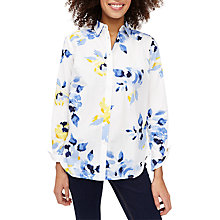 Buy Joules Lucie Printed Shirt, Cream Multi Rose Online at johnlewis.com
