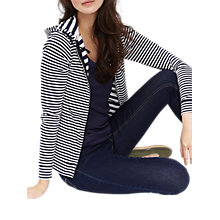 Buy Joules Zip Stripe Hoodie, Navy/White Online at johnlewis.com