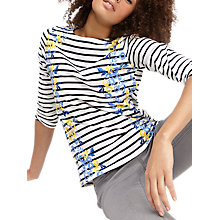 Buy Joules Harbour 3/4 Sleeve Printed Jersey Top, Navy Rose Stripe Online at johnlewis.com