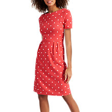 Buy Joules Beth Printed Jersey Dress, Red Sky Spot Online at johnlewis.com