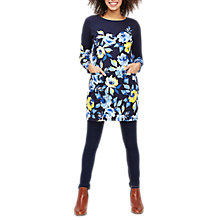 Buy Joules Quinn Jersey Tunic Dress, Navy Yellow Rose Online at johnlewis.com