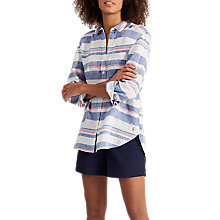 Buy Joules Jeanne Printed Linen Shirt, Blue Red Stripe Online at johnlewis.com