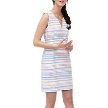 Buy Joules Sleeveless Stripe Dress, White/Multi Online at johnlewis.com