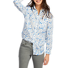 Buy Joules Jeanne Printed Linen Shirt, White Sea Air Ditsy Online at johnlewis.com