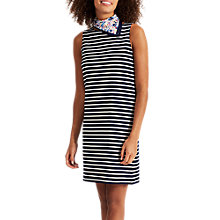 Buy Joules Sleeveless Stripe Jersey Dress, Black/White Online at johnlewis.com