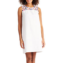 Buy Joules Sleeveless Embroidered Dress, Bright White Online at johnlewis.com