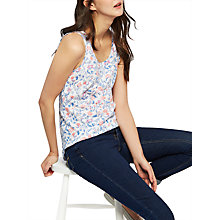 Buy Joules Sleeveless Print Jersey Top Online at johnlewis.com