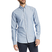 Buy BOSS Epreppy Printed Long Sleeve Slim Fit Shirt, Blue Online at johnlewis.com