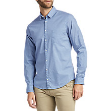Buy BOSS Erum Patterened Long Sleeve Slim Fit Shirt, Dark Blue Online at johnlewis.com