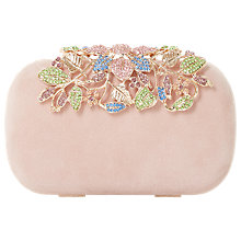 Buy Dune Emberrs Box Clutch Bag, Blush Online at johnlewis.com