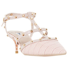 Buy Dune Casterly T-Bar Studded Court Shoes, Blush Online at johnlewis.com