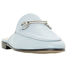 Buy Dune Gene Backless Loafers, Pale Blue Leather Online at johnlewis.com