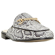 Buy Dune Gene Backless Loafers, Grey Leather Online at johnlewis.com