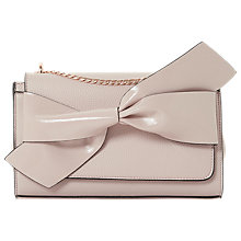 Buy Dune Elloie Bow Clutch Bag, Nude Online at johnlewis.com