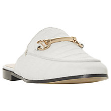 Buy Dune Gene Backless Loafers, White Online at johnlewis.com