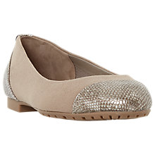 Buy Dune Hendrix Ballet Pumps, Grey Online at johnlewis.com