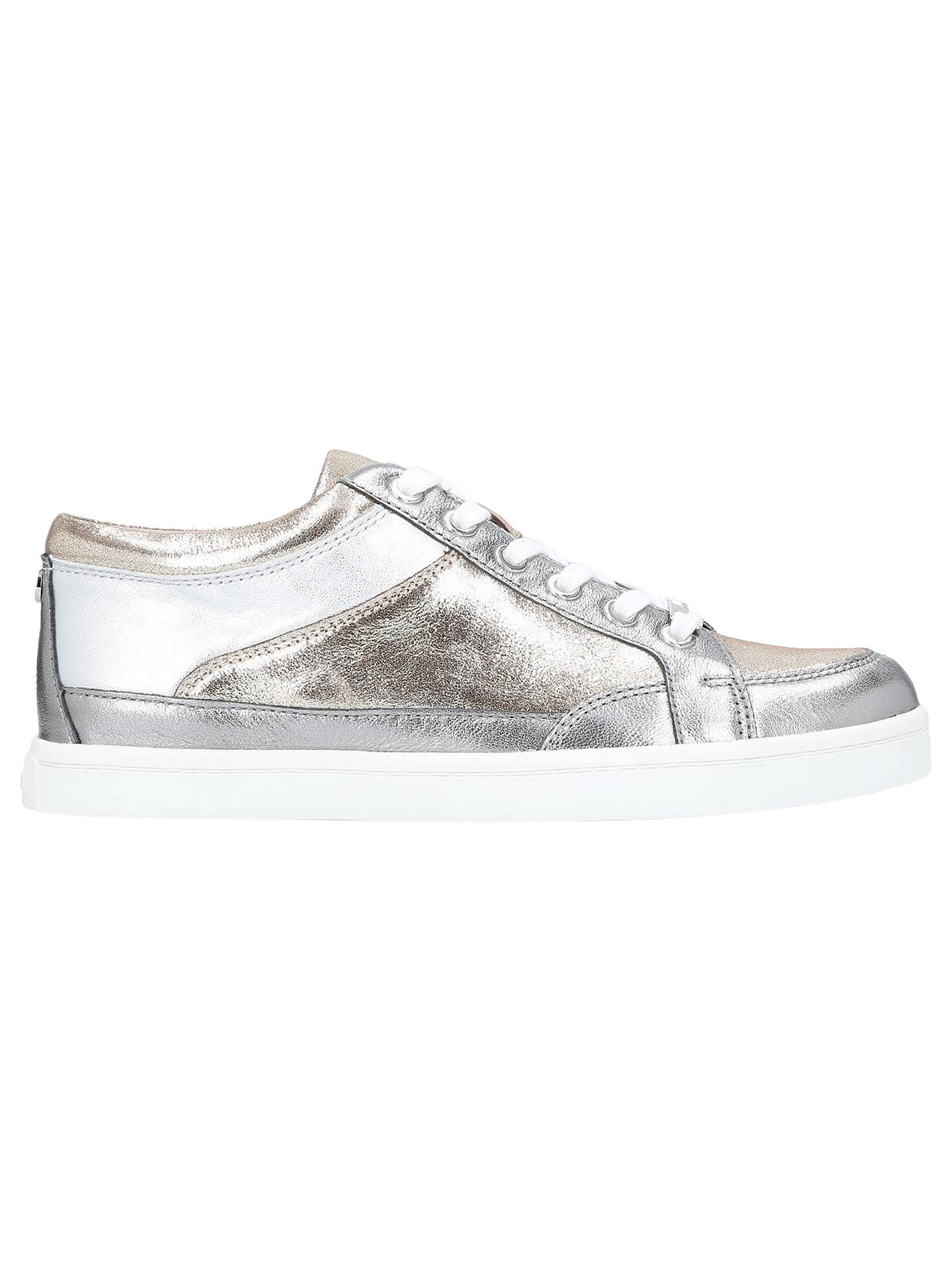 united kingdom run shoes nice cheap Carvela Legacy Lace-Up Trainers, Pewter at John Lewis & Partners