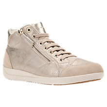 Buy Geox Myria High Top Lace Up Trainers, Taupe Online at johnlewis.com