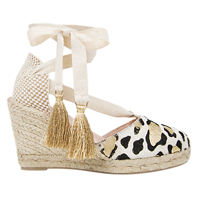 Air & Grace Shimme Wedge Heel Espadrilles, Multi Leather