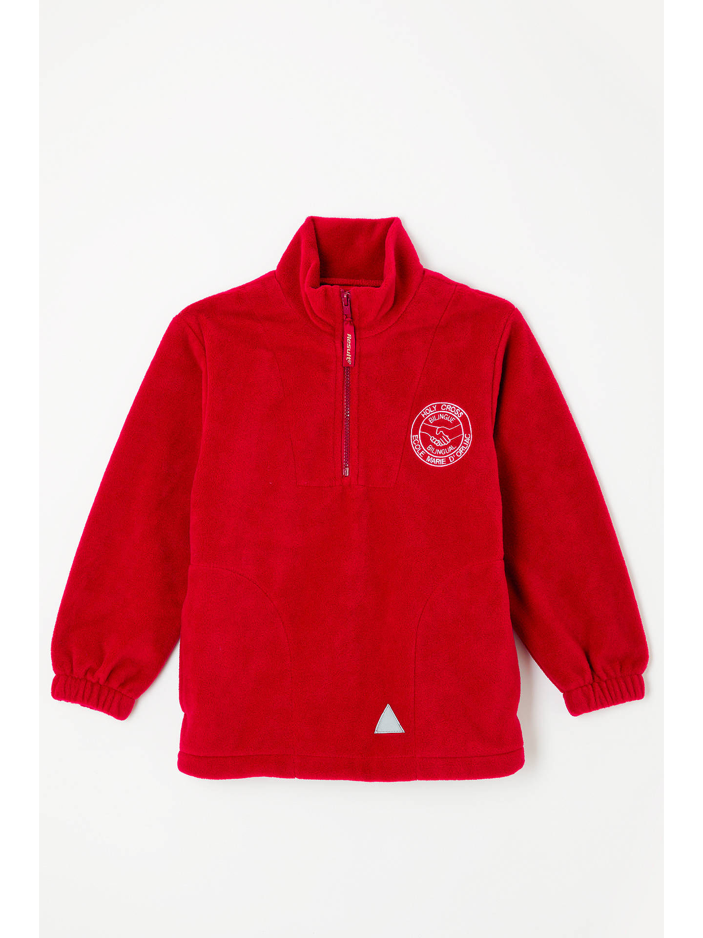 Buy Bilingue/Bilingual Stream of L'Ecole Marie D'Orliac & Holy Cross School Fleece, Red, 3-4 years Online at johnlewis.com