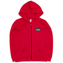 Buy Hype Boys' Zip Through Crest Logo Hoodie, Red Online at johnlewis.com