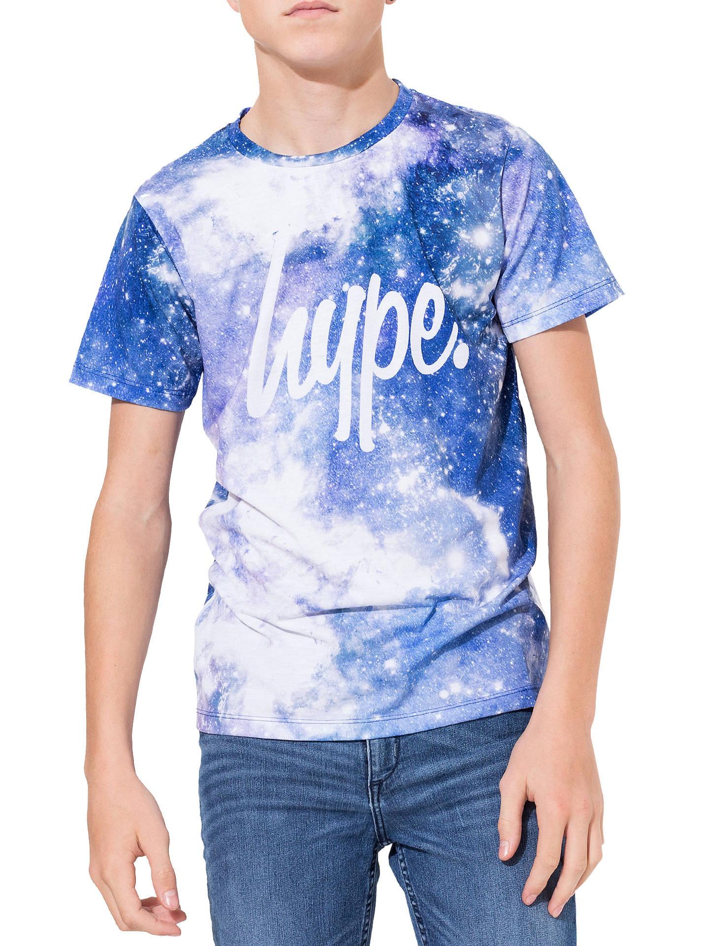 45ecbf15 Hype Boys' Space Print T-Shirt, Navy at John Lewis & Partners
