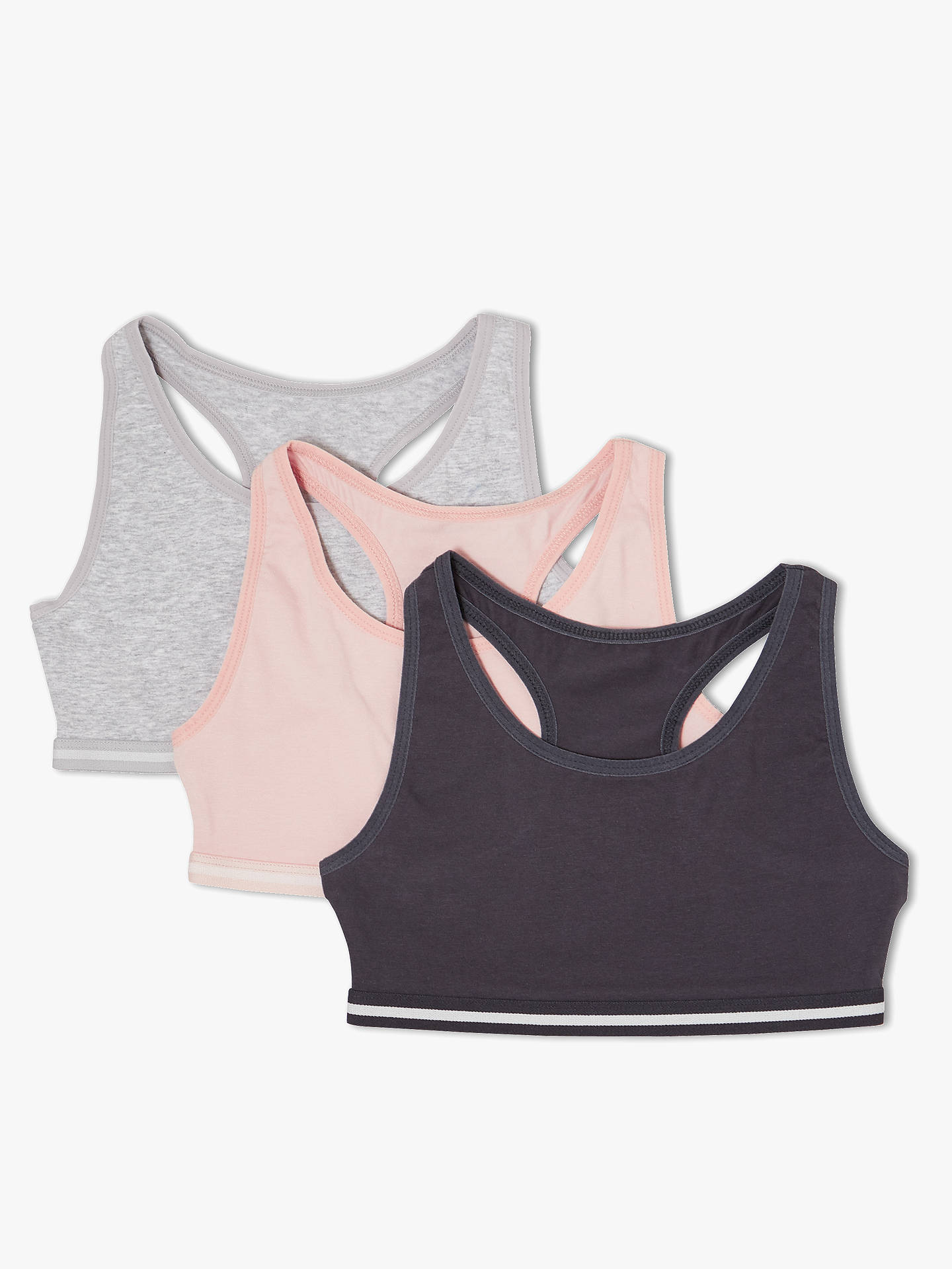 BuyJohn Lewis & Partners Girls' Sports Crop Tops, Pack of 3, Multi, 8 years Online at johnlewis.com