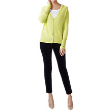 Buy Pure Collection Gassato Pointelle Cashmere Cardigan, Fresh Lime Online at johnlewis.com
