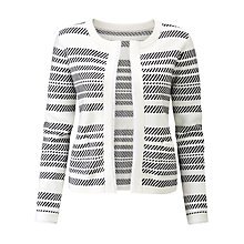 Buy Pure Collection Knitted Cotton Jacket, White/Navy Online at johnlewis.com