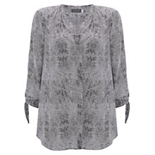 Buy Mint Velvet Kasey Print Tie Cuff Blouse, Multi Online at johnlewis.com