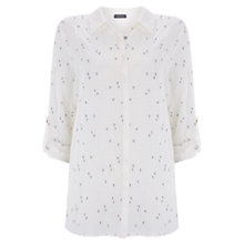 Buy Mint Velvet Heart Embroidered Shirt, Ivory Online at johnlewis.com