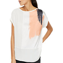 Buy Mint Velvet Haithe Print T-Shirt, White/Multi Online at johnlewis.com