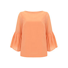 Buy Mint Velvet Sherbet Button Back Top, Light Orange Online at johnlewis.com