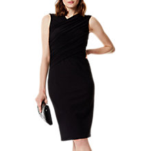 Buy Karen Millen Draped Wrap Dress, Black Online at johnlewis.com