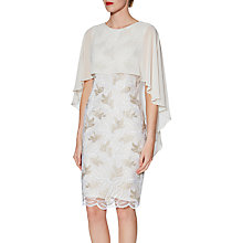 Buy Gina Bacconi Kia Embroidered Dress and Cape, Beige/White Online at johnlewis.com