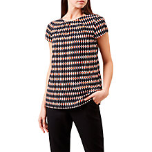 Buy Hobbs Shauna Top, Black/Multi Online at johnlewis.com