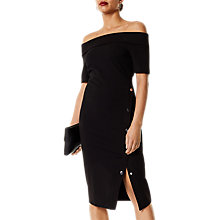 Buy Karen Millen Sassy Popper Dress, Black Online at johnlewis.com