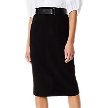 Buy Karen Millen Belt Pencil Skirt, Black Online at johnlewis.com