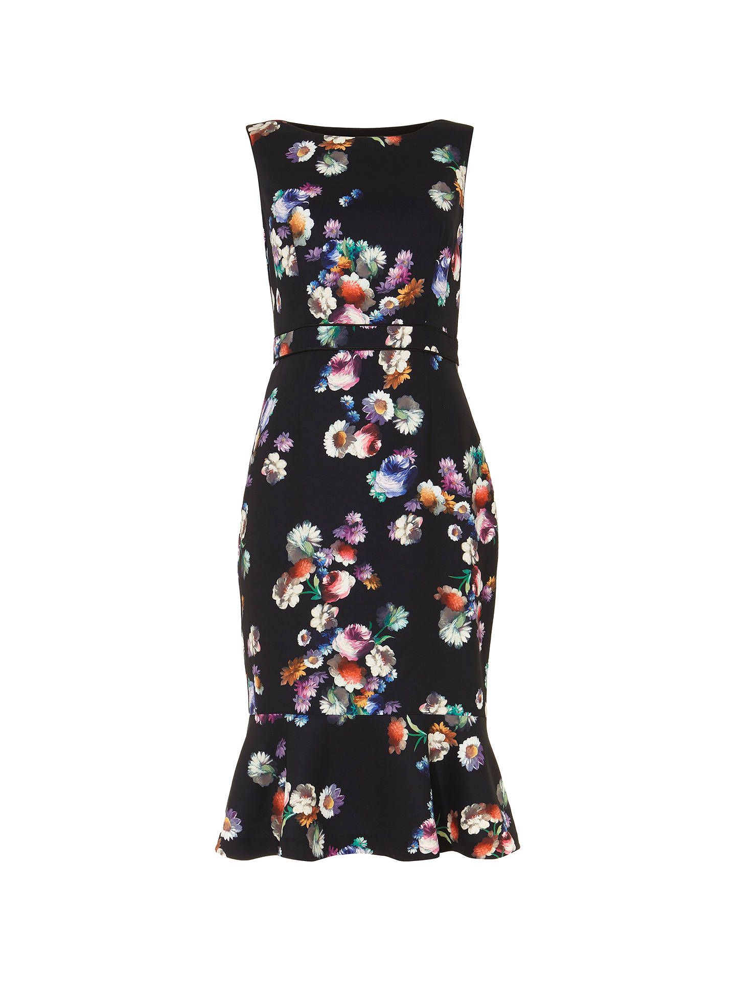 Phase Eight Rosemont Floral Dress Blue At John Lewis Partners