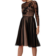 Buy Phase Eight Nishi Tulle Dress, Black/Nude Online at johnlewis.com