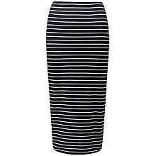 Buy Pure Collection Jersey Tube Skirt, Black/White Online at johnlewis.com