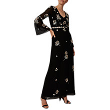 Buy Phase Eight Collection 8 Beaded Flower Dress, Black Online at johnlewis.com