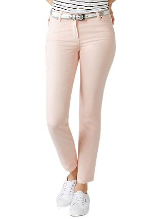 Pure Collection Cropped Jeans, Blush