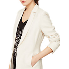 Buy Mint Velvet Ribbed Blazer, Cream Online at johnlewis.com