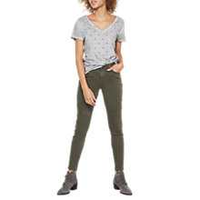 Buy Mint Velvet Darby Skinny Jeans, Dark Green Online at johnlewis.com