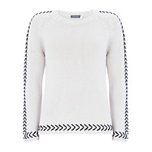 Buy Mint Velvet Chalk Whip Stitch Detail Knit Jumper, Neutral Online at johnlewis.com