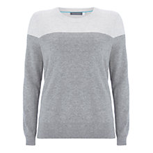 Buy Mint Velvet Blocked Easy Jumper, Chalk/Grey Online at johnlewis.com